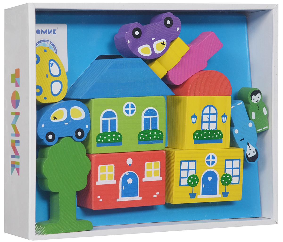 Томик Конструктор Цветной городок цвет синий8688-6Деревянный конструктор Томик Цветной городок привлечет внимание вашего ребенка. С помощью конструктора ребенок сможет построить маленький городок с деревьями, фигурками людей и машинами. Дети часто используют построенные сооружения в своих сюжетных играх, поэтому в наборах конструкторов имеются фигурки машин, деревьев и людей. Малыш сможет не только построить целый город, но и как настоящий волшебник наполнить его жизнью. А придумывая сюжеты игр, ребенок развивает воображение, связную речь, овладевает навыками ролевого поведения.