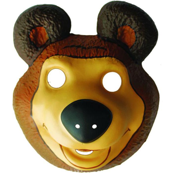 Маша и Медведь Маска карнавальная Медведь18382Детская маска с изображением любимого персонажа - это необходимый атрибут детского утренника или карнавала, который добавит празднику радости и веселья.