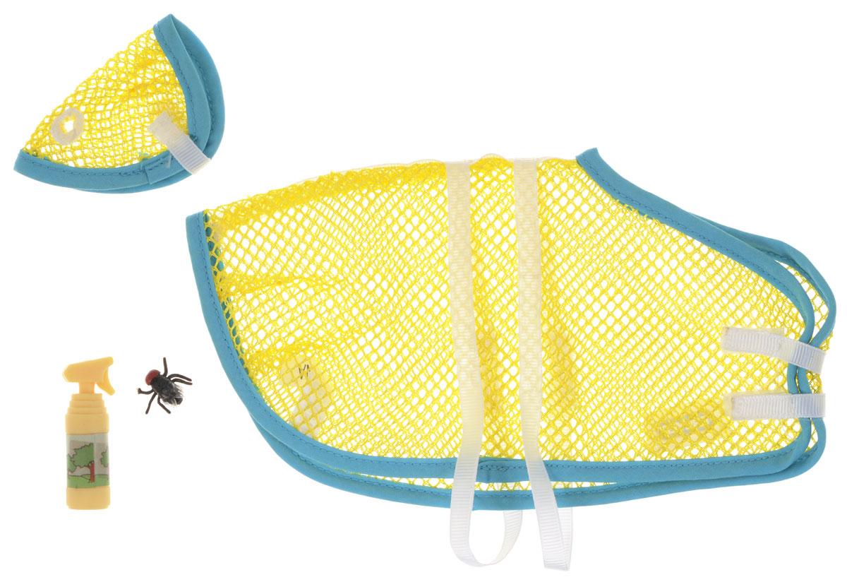 Breyer Набор аксессуаров Summer Turnout цвет желтый1388_желтыйНабор аксессуаров Breyer Summer Turnout станет великолепным дополнением для игр малыша. Входящие в него аксессуары подойдут лошадкам из серии Breyer Traditional, в масштабе 1:9. В комплект входит сетчатая попона и маска, спрей от насекомых и пластиковая муха. Этот набор будет незаменим для летних игр, когда вашей лошадке может понадобиться защита от назойливых насекомых. Красочная попона и маска великолепной подойдут лошади и внесут в ее образ яркие краски. Такой набор подходит как для игры, так и для демонстрации коллекции, и понравится не только детям, но и взрослым коллекционерам.