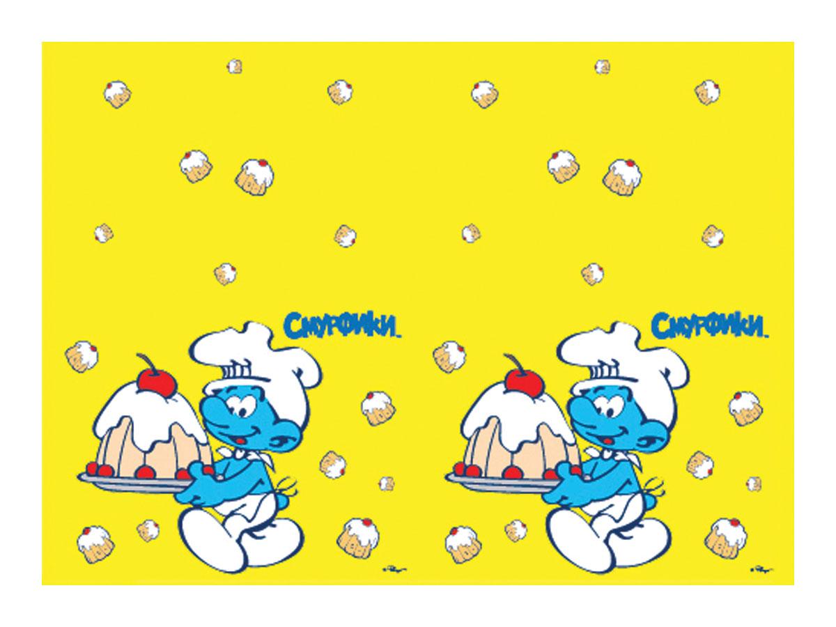 The Smurfs Скатерть Смурфики21097Детский праздник – это игры, танцы, задорный смех малышей и много-много веселья. А какое может быть торжество без многообразия сладостей и всевозможных вкусностей? Поэтому неотъемлемой частью любого праздничного события является украшение стола. И прекрасным вариантом для этого является полиэтиленовая скатерть с ярким, красивым рисунком. Своим веселым изображением она поднимет настроение всем участникам праздника. Полиэтиленовая желтая скатерть СМУРФИКИ имеет размер 133х183 см и упакована в пакет с хедером. Также из данной серии вы можете выбрать бумажные тарелки, стаканы, дудочки и колпачки.