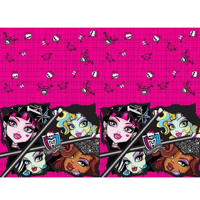 Monster High Скатерть цвет розовый черный