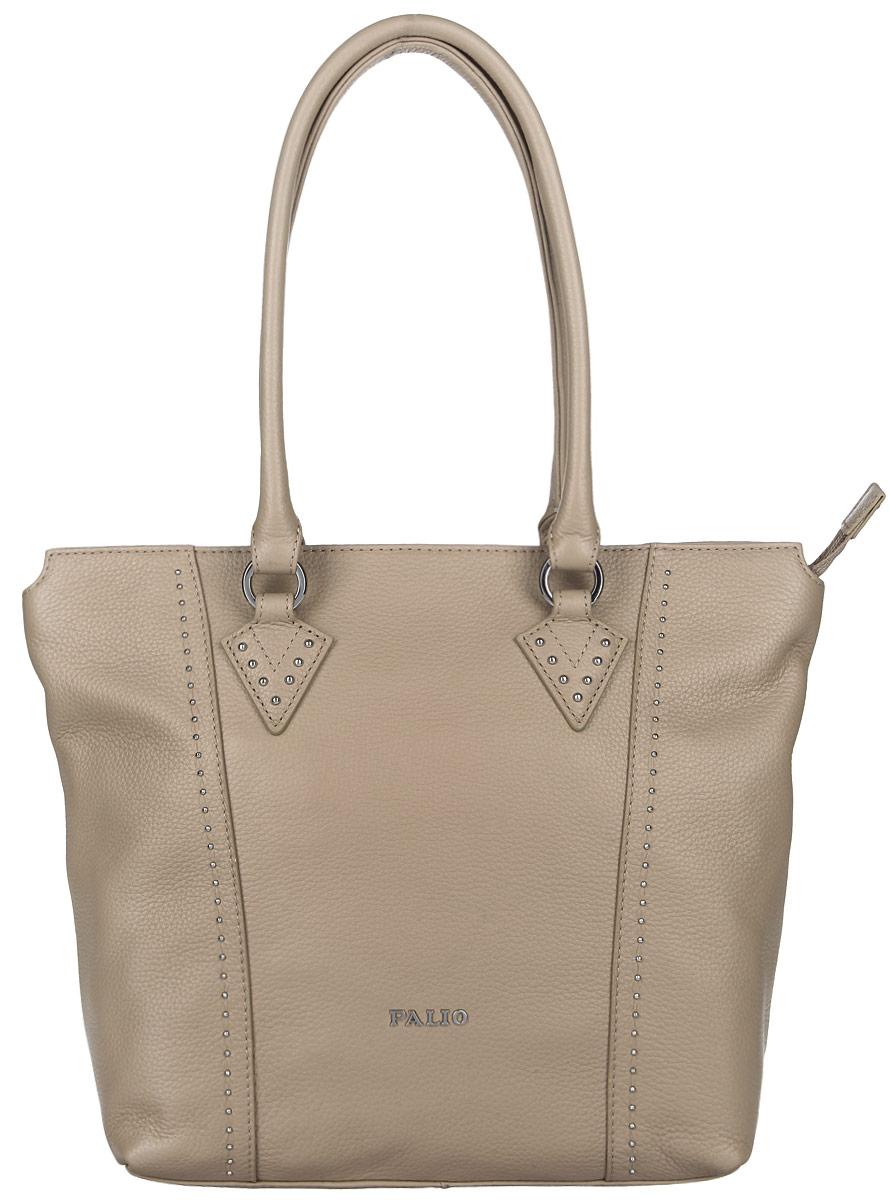 Сумка женская Palio, цвет: бежевый. 14385AR-22414385AR-224 beigeСтильная женская сумка Palio выполнена из натуральной кожи с зернистой фактурой, оформлена металлической фурнитурой с символикой бренда. Изделие содержит одно отделение, которое закрывается на молнию. Внутри расположены два накладных кармашка для мелочей, карман-средник на молнии и врезной карман на молнии. Снаружи, на задней стороне сумки, расположен врезной карман на застежке-молнии. Сумка оснащена двумя практичными ручками для переноски. Оригинальный аксессуар позволит вам завершить образ и быть неотразимой.