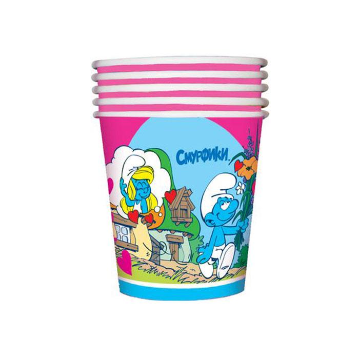 The Smurfs Стакан бумажный Сердечки23636Одноразовые стаканы прочно вошли в современную жизнь, и теперь многие люди просто не представляют праздник или пикник без таких нужных вещей: они почти невесомы, не могут разбиться и не нуждаются в мытье. Сделанная из бумаги, посуда Сердечки ТМ Смурфики является экологически чистой, поэтому не наносит вреда здоровью. Благодаря специальному покрытию она прекрасно справляется со своей задачей: удерживает еду и напитки, не промокает и не протекает. В набор одноразовой посуды входит 10 бумажных стаканов объемом 210 мл. Также из данной серии вы можете выбрать бумажные тарелки, дудочки, колпачки и полиэтиленовую скатерть. Упаковка – термопленка.