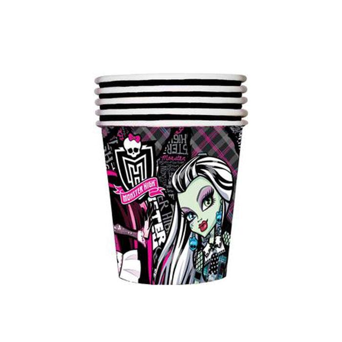 Monster High Стакан бумажный Страшно красивые23640Одноразовые стаканы прочно вошли в современную жизнь, и теперь многие люди просто не представляют праздник или пикник без таких нужных вещей: они почти невесомы, не могут разбиться и не нуждаются в мытье. Сделанная из бумаги, посуда Страшно красивые ТМ Монстр Хай является экологически чистой, поэтому не наносит вреда здоровью. Благодаря специальному покрытию она прекрасно справляется со своей задачей: удерживает еду и напитки, не промокает и не протекает. В набор одноразовой посуды входит 10 бумажных стаканов объемом 210 мл. Также вы можете выбрать бумажные тарелки, дудочки, колпачки и полиэтиленовую скатерть бренда Монстр Хай. Упаковка – термопленка.