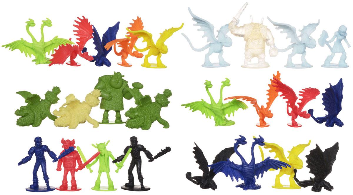Набор фигурок Dragons Драконы и викинги, 25 шт66598Набор фигурок Dragons Драконы и викинги непременно придется по душе вашему ребенку. В набор входит 18 разноцветных драконов и 7 викингов маленького размера без подвижных частей. Игрушки изготовлены из прочного гибкого пластика в виде персонажей популярного мультфильма Как приручить дракона. С героями любимого мультфильма можно организовать настоящее сражение, ведь эти умелые бойцы снабжены всем необходимым для настоящей схватки с противником! Вместе с этими фигурками ваш ребенок с удовольствием будет проигрывать любимые сцены из мультфильма или придумывать свои истории!