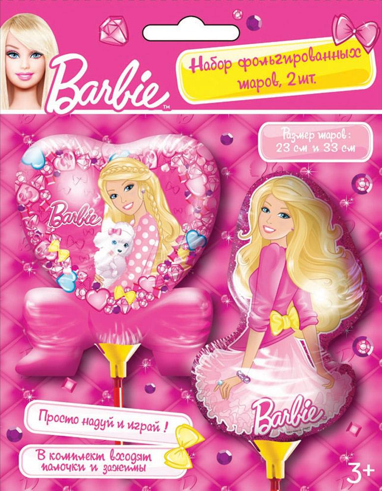 Barbie Шар фольгированный 2 шт24511Детский праздник станет ярче и веселее вместе с очаровательными шариками в виде прекрасной Барби. Они украсят любое помещение и станут замечательными игрушками для малышей. В комплекте: 2 мини-фигуры, изготовленные из миларовой пленки, 2 палочки, 2 держателя.