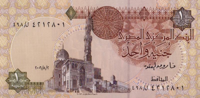 Банкнота номиналом 1 фунт. Египет. 2006 год