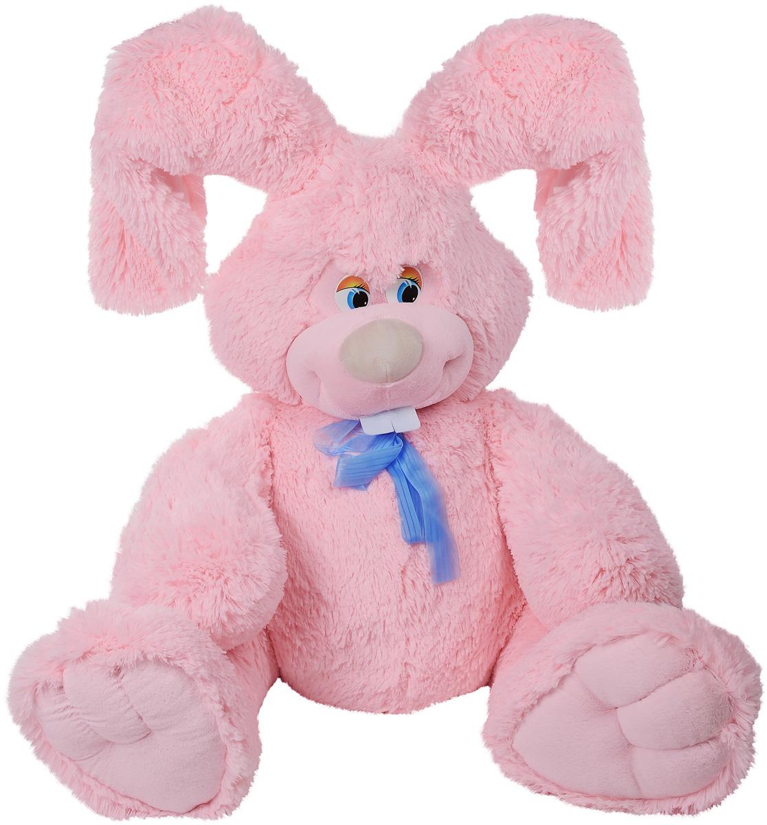 Fancy Мягкая игрушка Заяц Лаврик 65 смЗЛК4РV_розовыйМягкая игрушка Fancy Заяц Лаврик станет настоящим любимцем не только для ребенка, но и для всех членов семьи. Трогательный вислоухий заяц Лаврик с торчащими зубами непременно понравится всем! Ласковый и любознательный, всегда в отличном настроении, заяц будет надежным другом и соратником в играх вашего малыша, с которым он не захочет расставаться. Шерстка зайца очень мягкая, вызывает приятные тактильные ощущения и легко очищается. Выполнен из безопасных материалов. Порадуйте своего ребенка таким замечательным подарком!