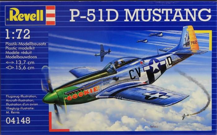 Revell Сборная модель Самолет P-51D Mustang64148Сборная модель Revell Самолет P-51D Mustang. Вы и ваш ребенок сможете собрать уменьшенную копию одноименного самолета и раскрасить ее. P-51D - американский одноместный истребитель времен Второй мировой войны. Использовался Королевскими ВВС как самолет-разведчик и истребитель прикрытия для дальних бомбардировщиков. Применялся во время войны в Корее. Набор включает в себя 34 пластиковых элемента для сборки модели, клей и схематичную инструкцию по сборке. Благодаря набору ваш ребенок научится творчески решать поставленные задачи, разовьет интеллектуальные и инструментальные способности, воображение, конструктивное мышление, внимание, терпение и кругозор. Уровень сложности: 3.