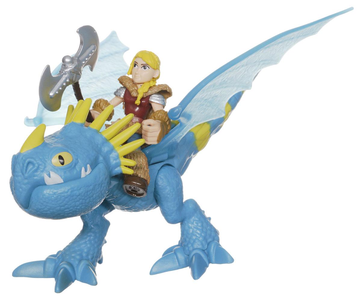 Игровой набор Dragons Astrid & Stormfly66594астридИгровой набор Dragons Astrid & Stormfly понравится вашему ребенку. Он включает фигурку дракона Громгильды, фигурку Астрид и аксессуар для сражений, отлично умещающийся ей в руку. Фигурки героя и дракона выполнены из прочного пластика и устойчивы к повреждениям. Фигурку Астрид можно посадить на Громгильду и устраивать незабываемые полеты. Если нажать кнопку на спине дракона, часть хвоста отделиться и атакует врага. Порадуйте вашего ребенка таким замечательным подарком!