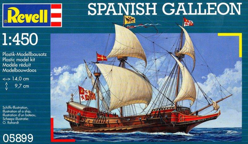 Revell Сборная модель Испанский галеон05899С помощью набора Revell Испанский галеон вы и ваш ребенок сможете собрать уменьшенную копию испанского галеона и раскрасить ее. Галеон является одним из самых ярких представителей кораблей времен золотого века парусного флота. Впервые суда данного типа появились в середине шестнадцатого века. На протяжении века галеоны были основными судами испанского флота. Именно из этих кораблей состояла Непобедимая армада - испанский флот, насчитывающий 130 судов. Классический испанский галеон представлял собой двухпалубное парусное судно с высокой кормой. Чаще галеоны использовали для перевозки грузов из испанских колоний в Европу. Набор включает в себя 19 пластиковых элементов для сборки модели, клей и схематичную инструкцию по сборке. Благодаря набору ваш ребенок научится творчески решать поставленные задачи, разовьет интеллектуальные и инструментальные способности, воображение, конструктивное мышление, внимание, терпение и кругозор. Уровень...