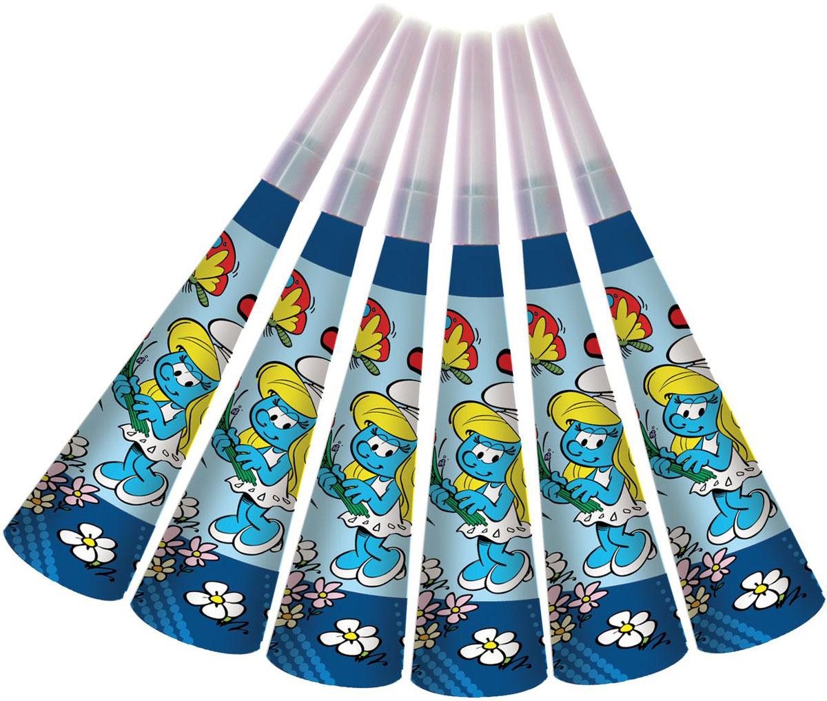 The Smurfs Дудочка бумажная Смурфики 6 шт26235Детский праздник – это множество самых разных игр и развлечений. И 6 бумажных дудочек Смурфики здесь весьма кстати! Устраивая соревнования на то, чей гудок получится громче или дольше, малыши будут не только веселиться от души, но и развивать дыхательную систему, что особенно полезно для их здоровья. А любимые герои привлекут всех участников торжества без исключения.