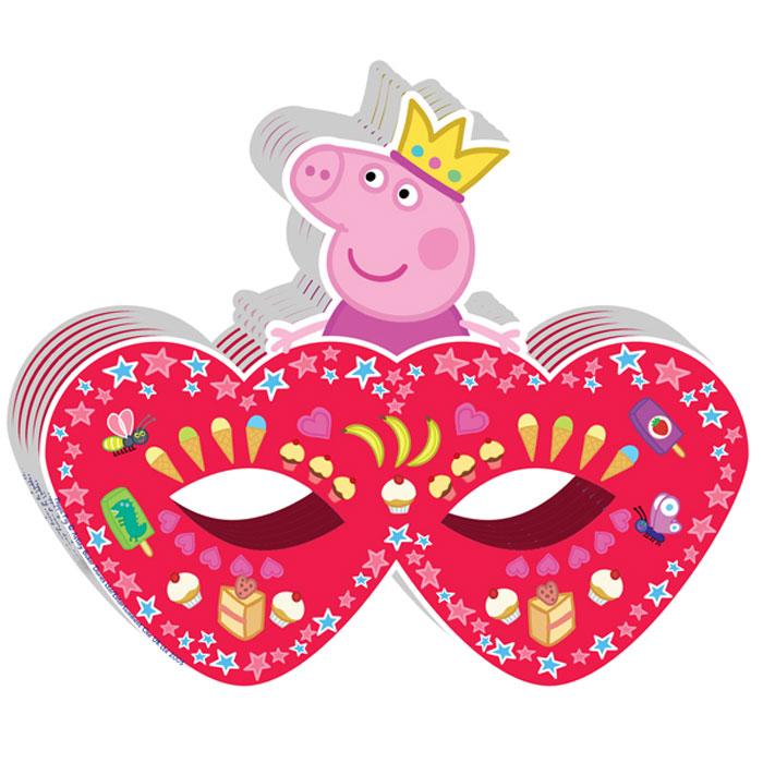 Peppa Pig Маска бумажная Пеппа-принцесса28561Карнавальная маска Пеппа-принцесса с героиней мультфильма Свинка Пеппа очаровательно украсит наряд юной принцессы, придав ее костюму грациозность и загадочность. Детская маска на резинке размером 18 х15 см изготовлена из плотной бумаги, декорирована ярким принтом и фигуркой Свинки Пеппы.