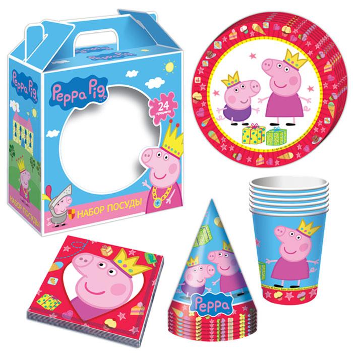 Peppa Pig Набор посуды Пеппа-принцесса 24 предмета