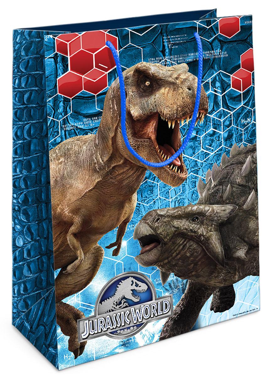Jurassic World Пакет подарочный Тираннозавр Рекс 35 см х 25 см х 9 см29997Приобрести интересный подарок для ребенка - это только часть задачи. Не менее важно его красиво упаковать! Самым простым, практичным и при этом очень красивым видом упаковки является подарочный пакет - особенно с любимыми героями малыша. Бумажный пакет Тираннозавр Рекс с динозавром из фильма Парк Юрского периода поможет эффектно украсить ваш подарок. Размер бумажного подарочного пакета: 35х25х9 см. В ассортименте вы можете найти такой же пакет размером 23х18х10 см.