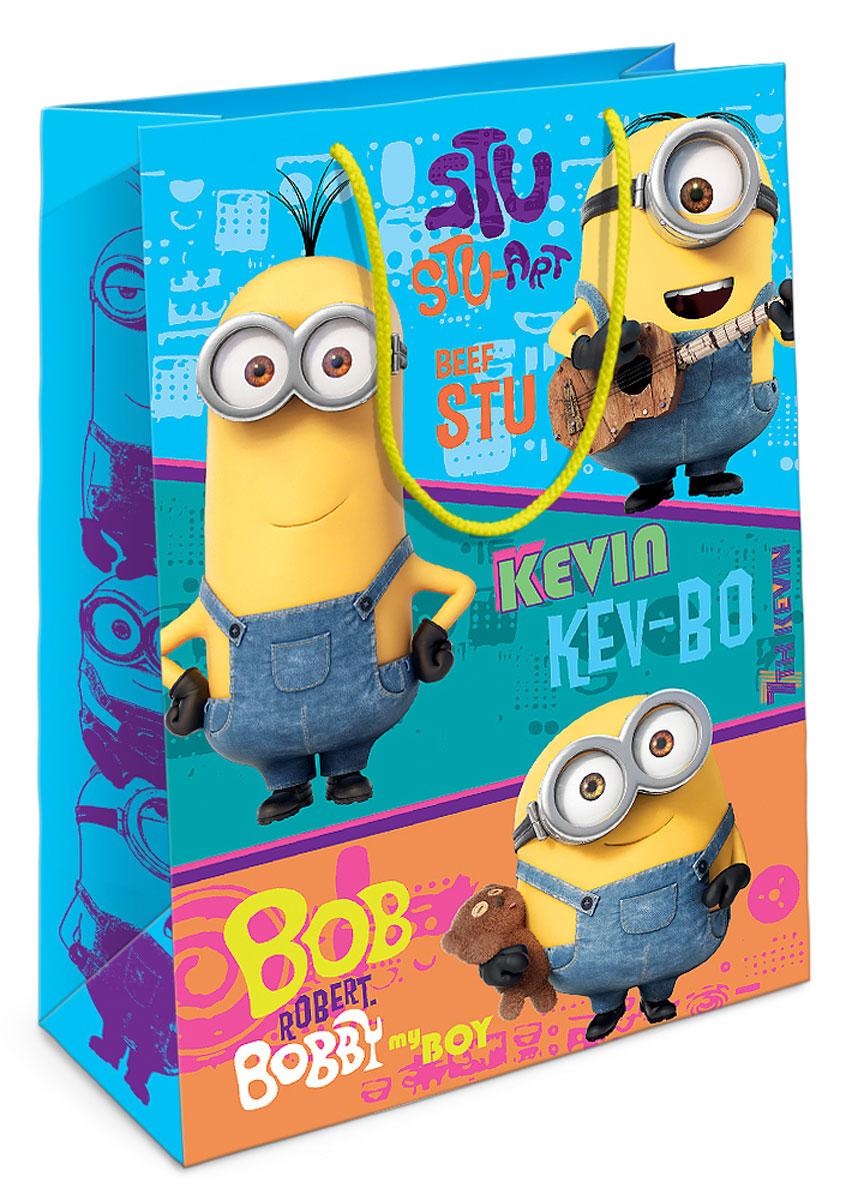Universal Миньоны Пакет подарочный Миньоны-друзья30001Яркий подарочный пакет с любимыми героями – это отличный способ украсить подарок для ребенка. Бумажный пакет Миньоны-друзья стильно преобразит ваш подарок и поможет создать праздничную атмосферу. Размер бумажного подарочного пакета: 35х25х9 см. В ассортименте вы можете найти такой же пакет размером 23х18х10 см.