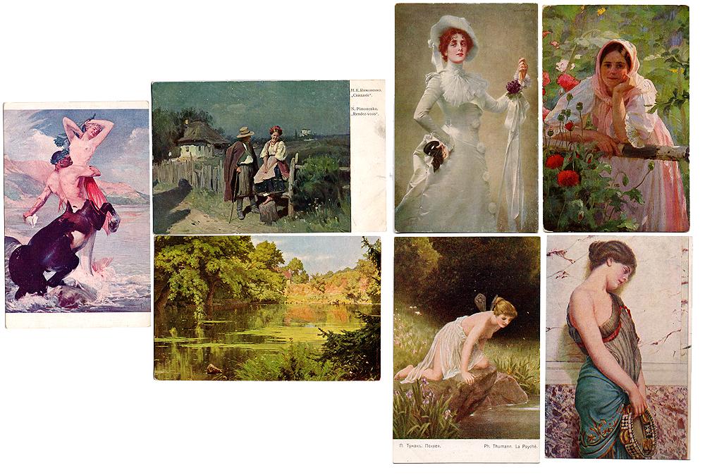 Живопись. Комплект из 7 открыток