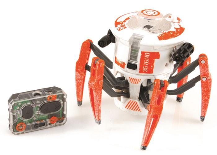 HexBug Микро-робот Боевой Спайдер цвет белый477-3063Игровой набор HEX BUG Боевой Спайдер поразит воображение любого ребёнка! Уникальный Боевой Спайдер Hexbug создан специально для бесконтактных сражений! Боевой спайдер быстро бегает и разворачивается на 360 градусов, стоя на месте. Полностью контролировать его действия можно с помощью пульта управления. Кроме своего совершенно фантастического внешнего вида, в котором сочетается природные формы настоящего паука, этот спайдер оснащен специальными лазерными пушками по бокам, которые и должны поражать соперника.