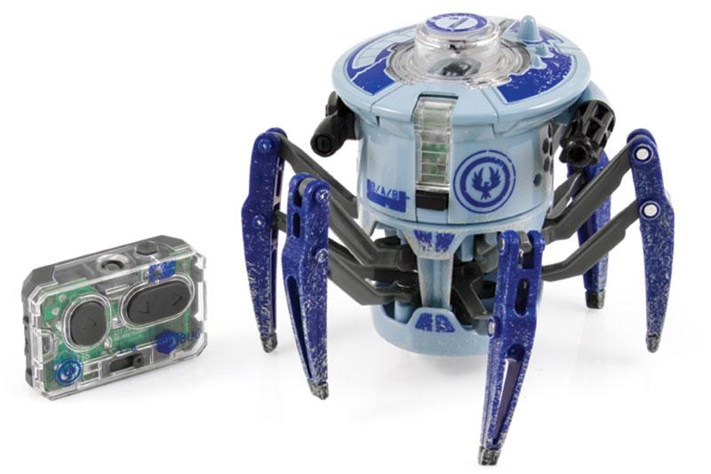 HexBug Микро-робот Боевой Спайдер цвет синий477-3063Игровой набор HEX BUG Боевой Спайдер поразит воображение любого ребёнка! Уникальный Боевой Спайдер Hexbug создан специально для бесконтактных сражений! Боевой спайдер быстро бегает и разворачивается на 360 градусов, стоя на месте. Полностью контролировать его действия можно с помощью пульта управления. Кроме своего совершенно фантастического внешнего вида, в котором сочетается природные формы настоящего паука, этот спайдер оснащен специальными лазерными пушками по бокам, которые и должны поражать соперника.
