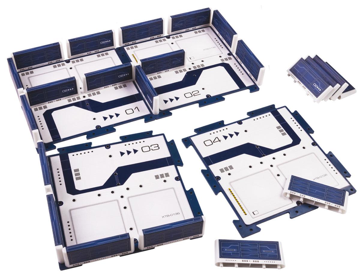 DeskPets Площадка конструктор для микро-роботов Мэйзбот1882Мейзбот поможет создать гоночную трассу или поле боя для ваших микророботов. Этот набор компактен и легко собирается. Объедините вместе несколько таких наборов и постройте большой уникальный лабиринт!