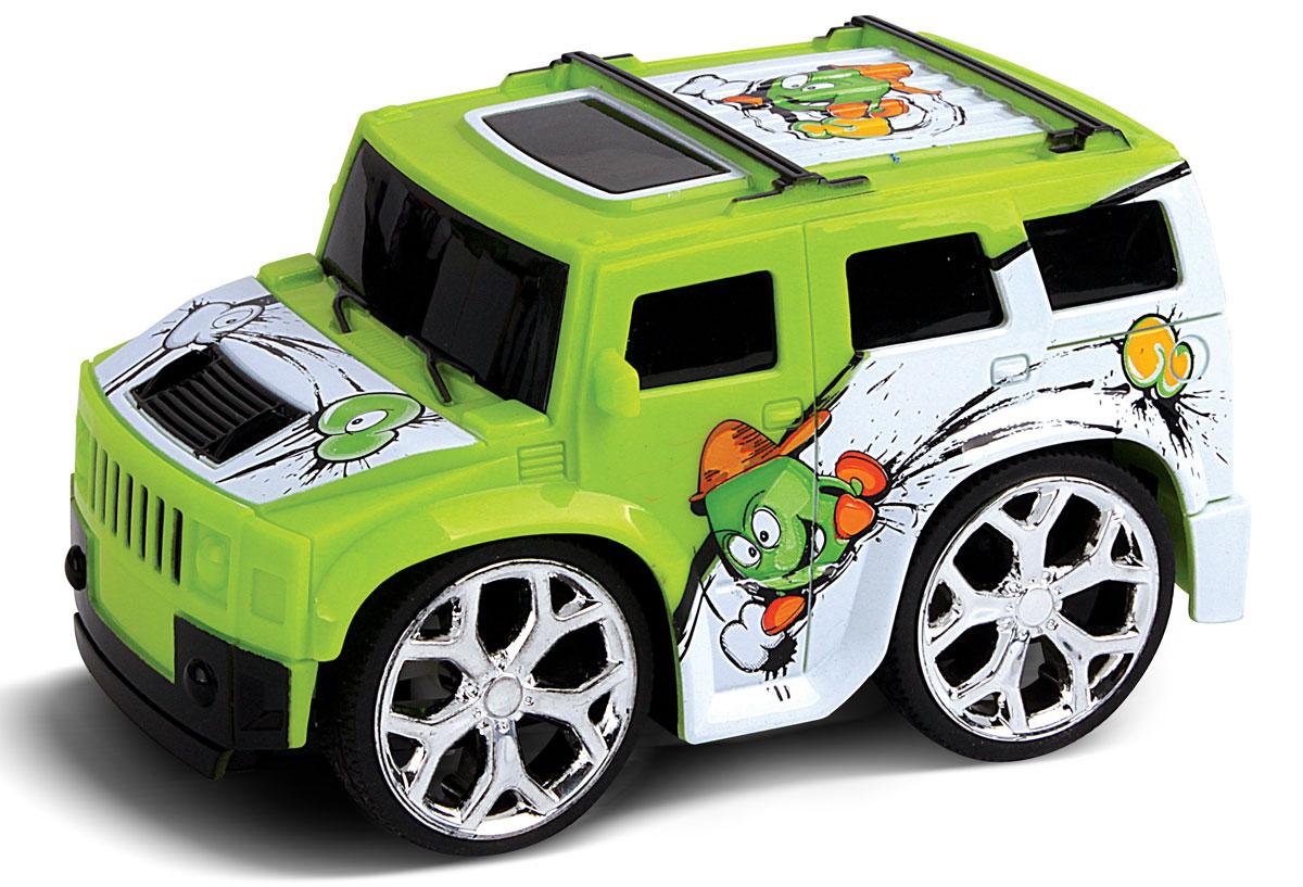 Bluesea Машинка на радиоуправлении Mini цвет зеленый5588-31Это один из представителей яркой серии машинок Mini Car. Она проста в управлении, двигается вперед, назад, влево и вправо. Для того, чтобы начать играть, достаточно просто докупить элементов питания для машинки и пульта управления.