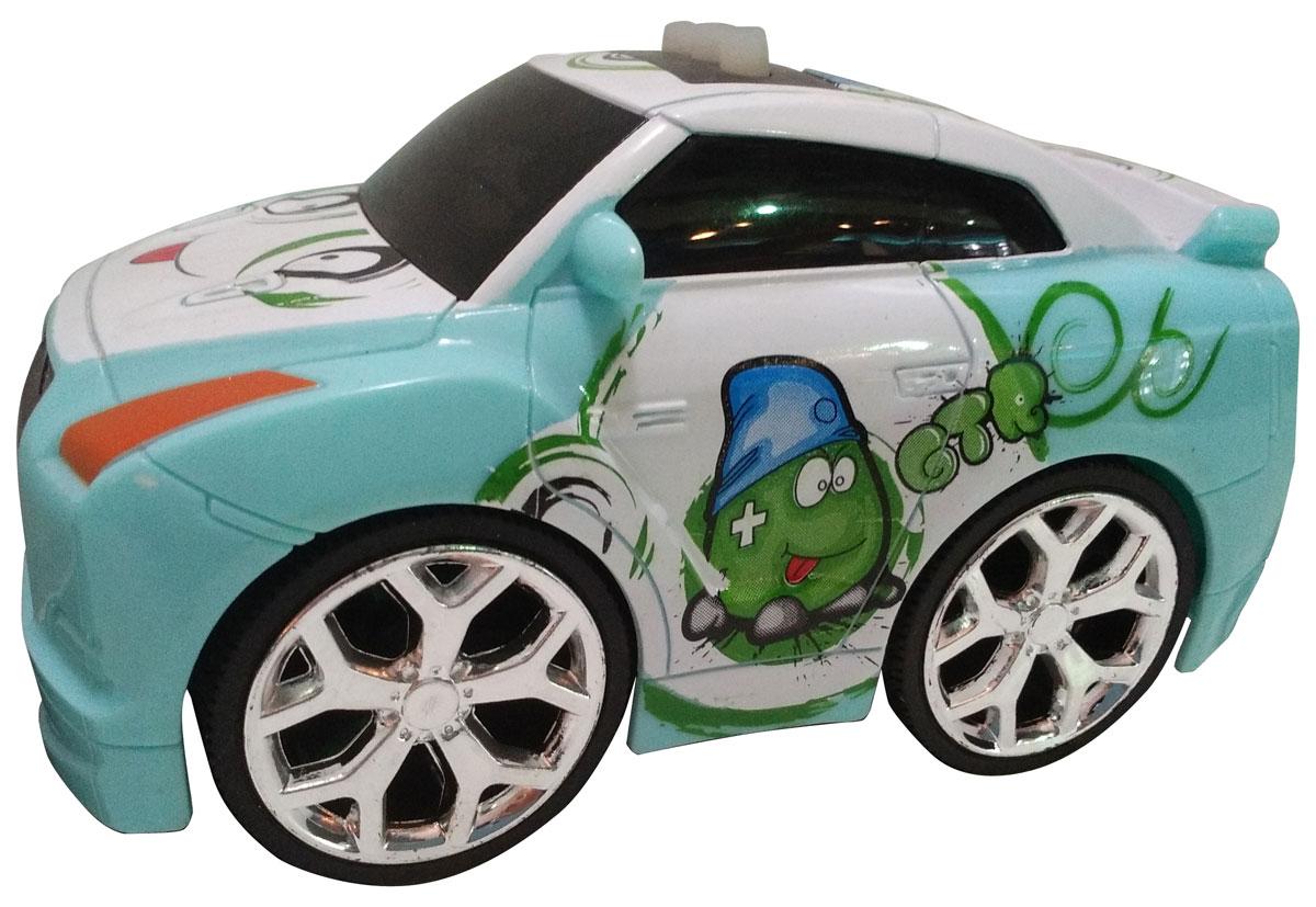 Bluesea Машинка со светом и звуком цвет зеленый5588-76ВНебольшая оригинальная интерактивная машинка! Три интерактивные функции: запуск двигателя, включение музыки и движение вперед. Для эксплуатации необходимо докупить элементы питания АА.