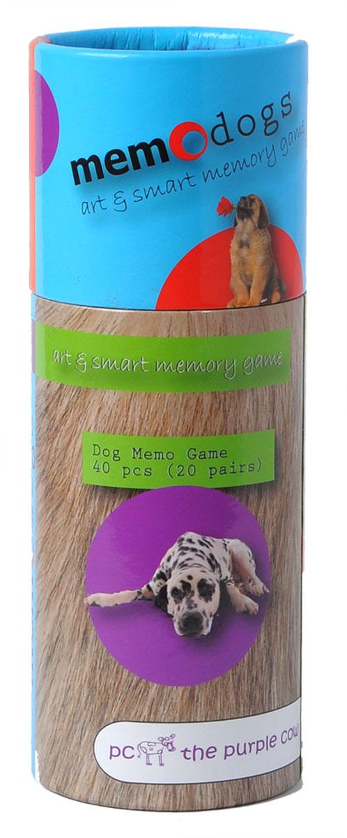 The Purple Cow Настольная игра для развития памяти Собаки368859Игра для развития памяти - Собаки. Она состоит колоды из парных карточек. Колода тщательно перемешиваются между собой и раскладываются в случайном порядке «рубашкой» вверх в любом порядке, главное, чтобы карточки не перекрывали друг друга. Каждый игрок может открывать любые две карточки за один ход. Если при открытии образовалась «парочка», то игрок забирает обе карточки себе и делает следующий ход. Если картинки на перевернутых карточках разные, то игрок кладет открытые карточки на их прежнее место лицевой стороной вверх так, чтобы все участники игры могли на них посмотреть и запомнить их расположение, после чего открытые карточки переворачивают обратно «рубашкой» вверх и ход переходит к следующему игроку. Выигрывает тот, кто набирает больше всех парных карточек за игру.