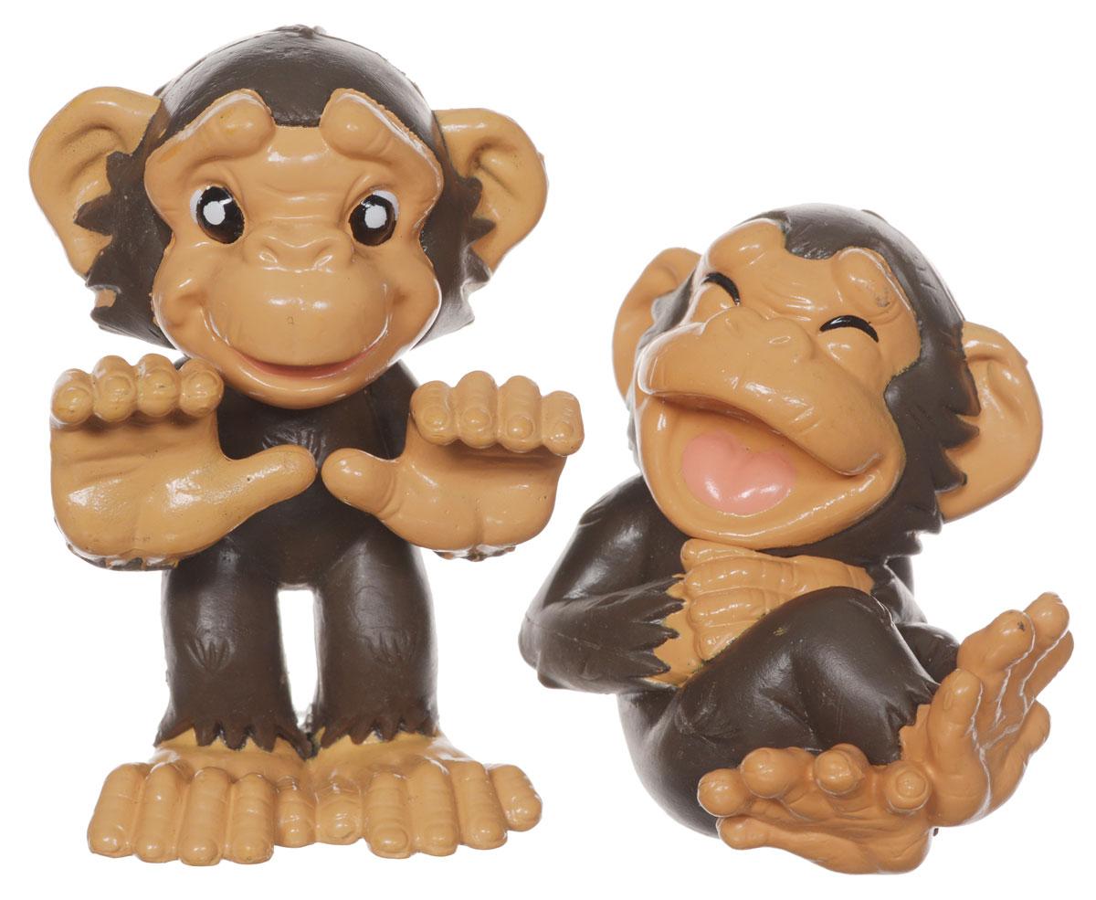1TOY Фигурки Обезьянки 2 штТ55906_обезьянкиФигурки 1TOY Обезьянки - небольшие реалистичные фигурки животных, прекрасный вариант познакомить ребенка с особенностями живой природы, ведь забавные зверьки открывают большой простор для самых разнообразных игр и занятий! Игрушка выполнена из безопасного материала, не токсична. В набор входят две игрушки, изображающие обезьян и карточка-наклейка.