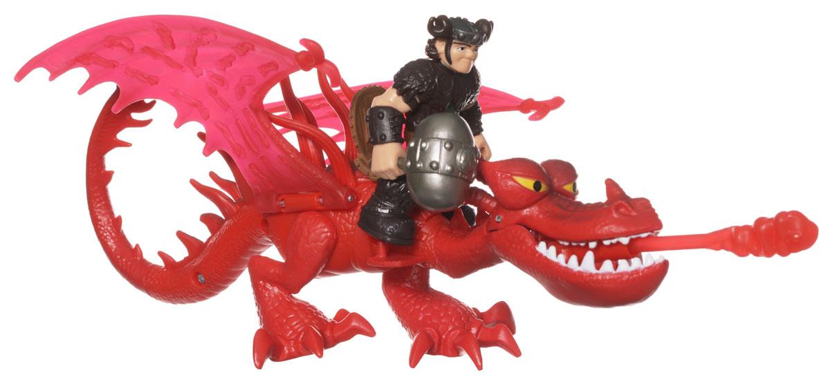 Dragons Игровой набор Hiccup & Toothless цвет красный66594_20067365Игровой набор Dragons Snotlout & Hookfang понравится вашему ребенку. Он включает фигурку дракона Кривоклыка, фигурку Сморкалы и аксессуар для сражений, отлично умещающийся ему в руку. Фигурки героя и дракона выполнены из прочного пластика и устойчивы к повреждениям. Фигурку Сморкалы можно посадить на дракона и устраивать незабываемые полеты. Лапы и крылья дракона двигаются. Кривоклык способен атаковать врага огнем (пластиковой стрелой, входящей в комплект). Порадуйте вашего ребенка таким замечательным подарком!