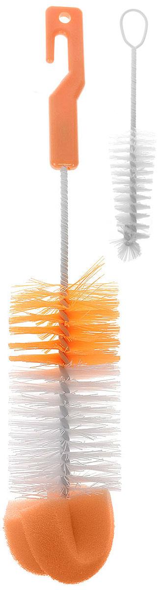 Canpol Babies Набор ершиков для бутылочки и соски цвет оранжевый 2 шт2/410_оранжевыйНабор Canpol Babies, выполненный из полипропилена и оцинкованной проволоки, состоит из ершика для бутылочки и ершика для соски. Набор специально разработанных ершиков, идеально подходит для очищения бутылочек для кормления и сосок перед стерилизацией. Они чистят безопасно и не царапают поверхность. Ершик для бутылочек (больший из двух), дополнительно оснащен губкой, которая позволяет тщательно чистить внутреннюю часть бутылочки. Маленький ершик отлично очищает внутреннюю поверхность сосок. Не забывайте мыть бутылочки и соски сразу после кормления ребенка и содержите ершик в чистоте. Длина ершика для бутылочки (с учетом ручки и губки): 29 см. Длина ершика для соски: 13 см. УВАЖАЕМЫЕ КЛИЕНТЫ! Товар поставляется в цветовом ассортименте. Поставка осуществляется в зависимости от наличия на складе.