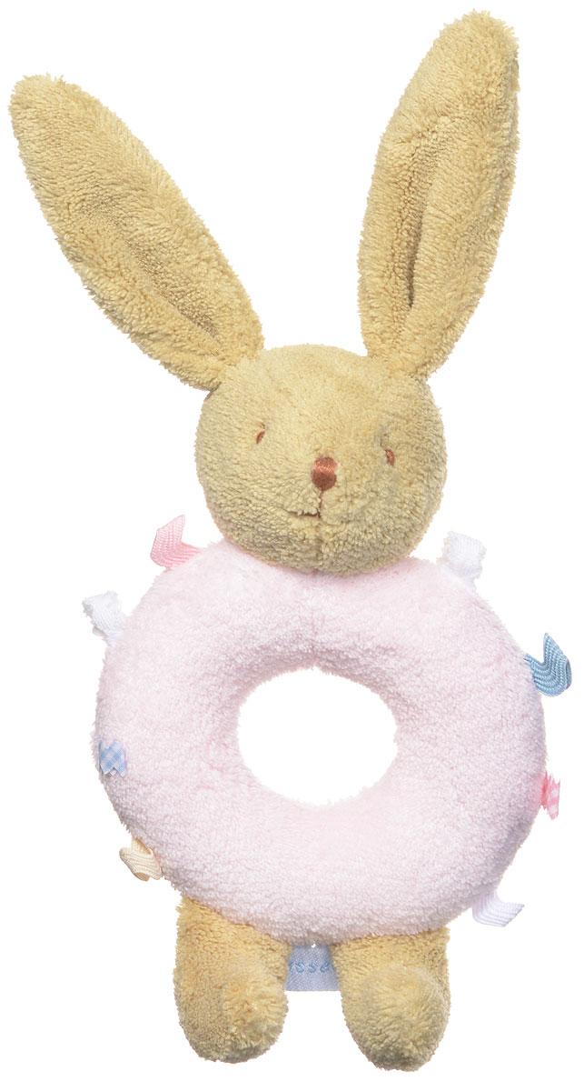Trousselier Мягкая погремушка-кольцо Зайчик цвет розовыйV3001 03Мягкая погремушка-кольцо Trousselier Зайчик привлечет внимание вашего малыша и не позволит ему скучать. Игрушка выполнена в виде зайчика, телом которого является кольцо с пришитыми кусочками ткани. В голове зайчика встроена погремушка. Игра с погремушкой-кольцом поможет малышу развить слуховое и цветовое восприятия, мелкую моторику рук и концентрацию внимания, стимулирует взаимодействие между органами осязания, слухом и зрением, учит различать формы и цвета.