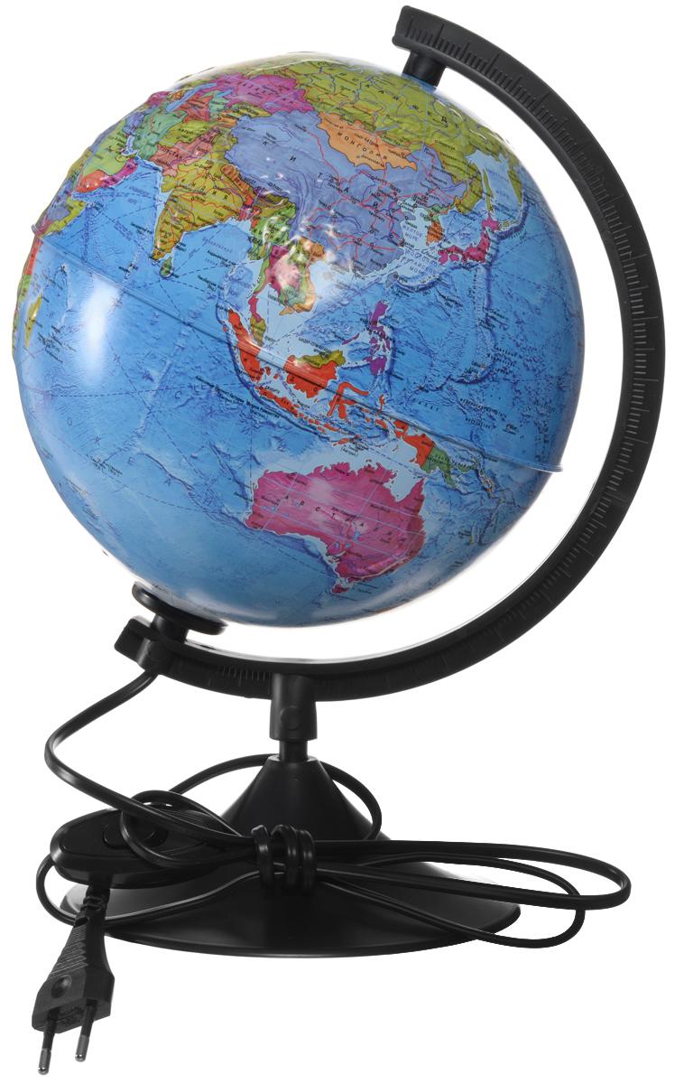 Globen Глобус Земли политический рельефный с подсветкой диаметр 21 см К022100210