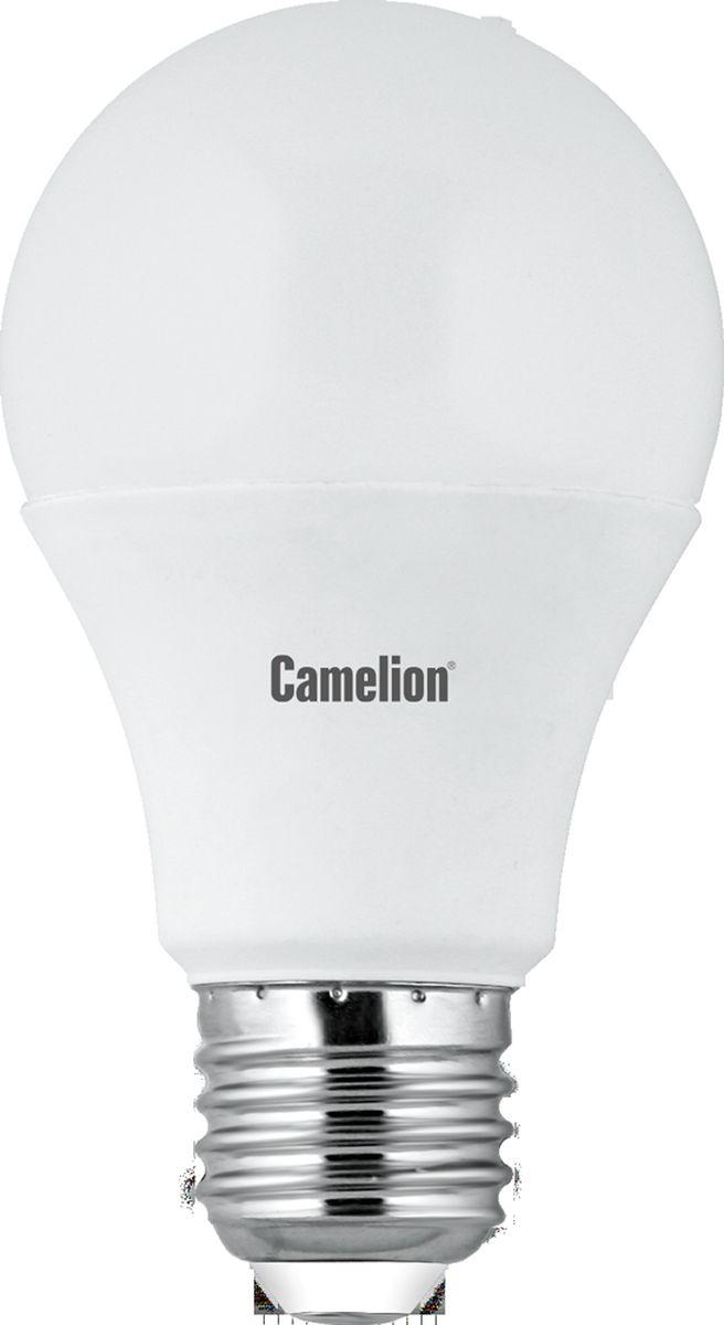 Лампа светодиодная Camelion, холодный свет, цоколь Е27, 7 W11254Светодиодная лампа, температура цвета 4500К (Холодный цвет), напряжение 220 Вольт