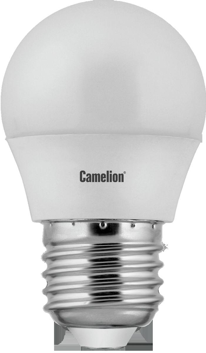 Лампа светодиодная Camelion, холодный свет, цоколь Е27, 7 W12072Светодиодная лампа, температура цвета 4500К (Холодный цвет), напряжение 220 Вольт