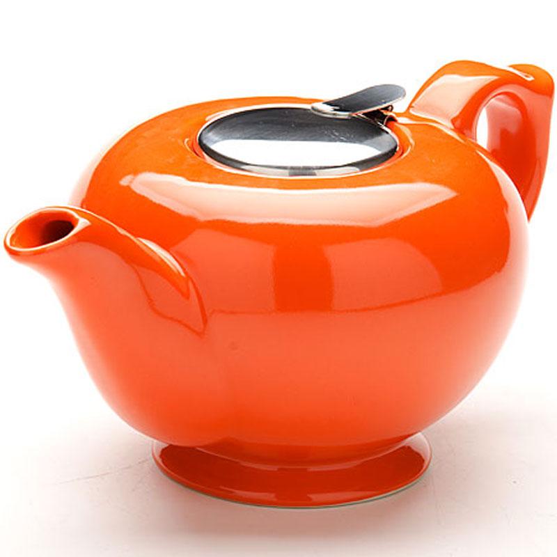 Чайник заварочный Loraine, с фильтром, цвет: оранжевый, 1,2 л23060_оранжевыйЗаварочный чайник Loraine изготовлен из высококачественной керамики и снабжен крышкой из нержавеющей стали. Изделие оснащено фильтром, благодаря которому задерживает чаинки и предотвращает их попадание в чашку. Глянцевый корпус обеспечивает легкую очистку. Чайник поможет заварить крепкий ароматный чай и великолепно украсит стол к чаепитию. Диаметр чайника (по верхнему краю): 12,5 см. Высота чайника (без учета крышки): 12 см. Высота фильтра: 6 см.