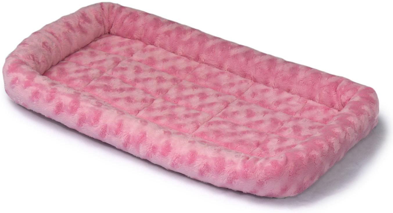 Лежанка для животныx Midwest Fasion, цвет: розовый, 76 x 53 см40230-PKMidwest лежанка Quiet Time . Лежанка идеально подходит для собак мелких пород и средних пород! Бортики лежанки защитят животное от сквозняков и холода, а искусственная овчина, которая наполняет лежанку, подарит тепло и комфорт во время отдыха. Стильная лежанка непременно впишется в любой интерьер. Она легко убирается и переносится.