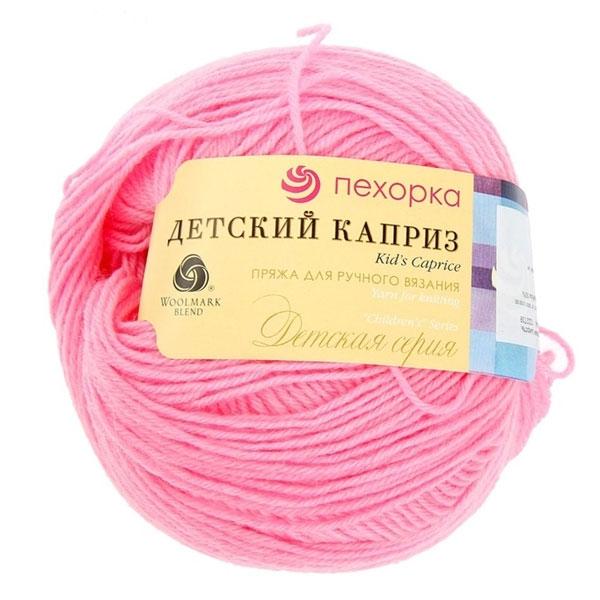 Пряжа для вязания Пехорка Детский каприз, цвет: ярко-розовый (11), 225 м, 50 г, 10 шт360046_11_11_ярко-розовыйПряжа для вязания Пехорка Детский каприз изготовлена из мериносовой шерсти и фибры. Прекрасно подойдет для вязания детских вещей, которые будут отлично сохранять тепло, гигроскопичны, шелковисты на ощупь с характерным живым блеском. Рекомендуемые спицы для вязания №3. Толщина нити: 1 мм. Состав: 50% мериносовая шерсть, 50% фибра.
