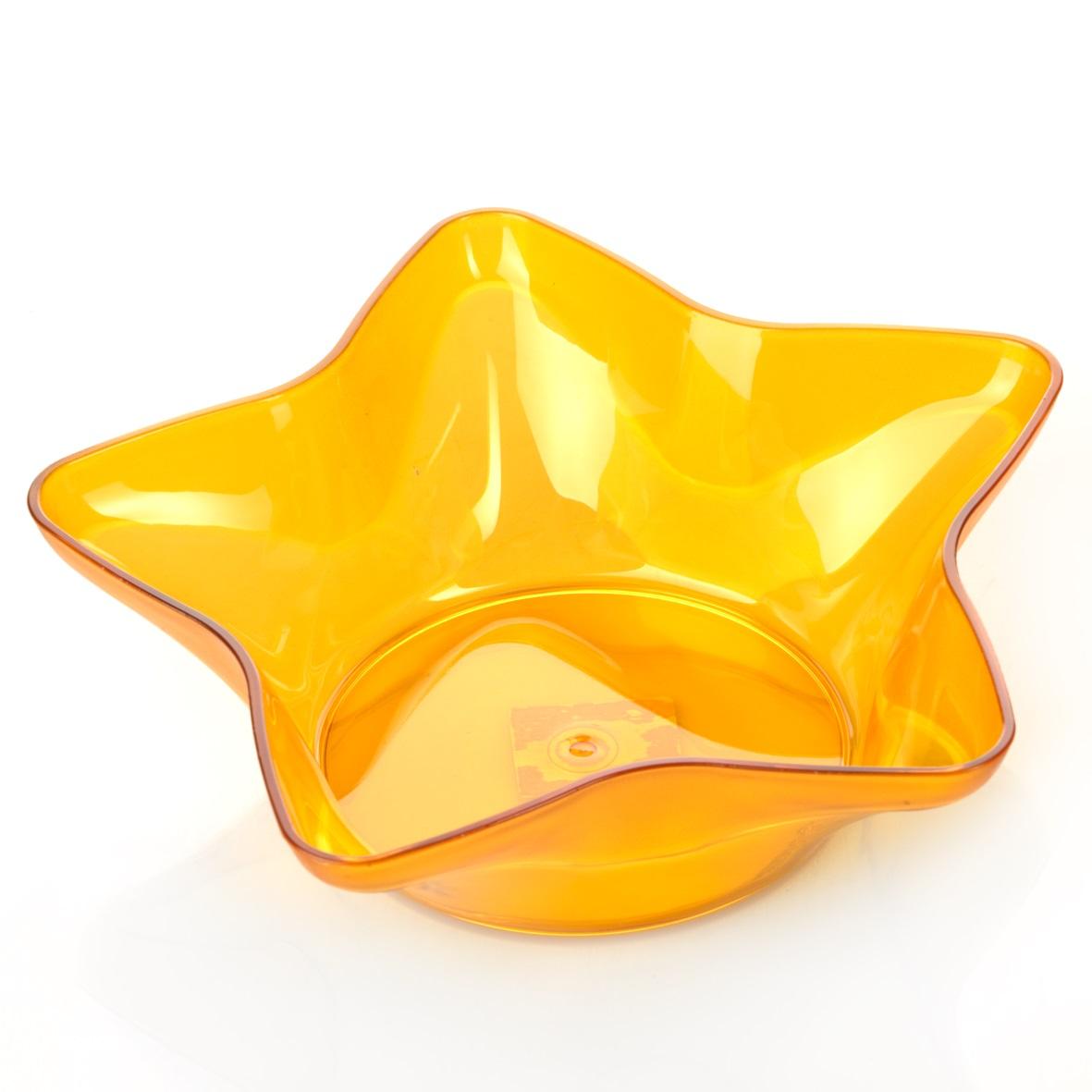 Миска Dunya Plastik Звезда, цвет: оранжевый, 25 х 24 см11167_оранжевыйМиска Dunya Plastik Звезда изготовлена из прозрачного пластика, имеет форму звезды. Такая миска прекрасно подойдет для сервировки ягод, овощей и фруктов, салатов и других продуктов.