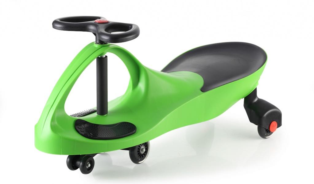 Bradex Каталка Бибикар с полиуретановыми колесами цвет зеленый DE 0042