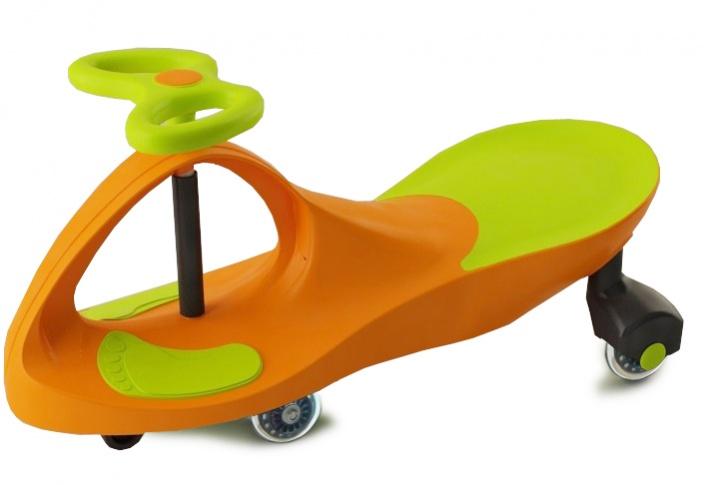 Bradex Каталка Бибикар с полиуретановыми колесами цвет салатовый оранжевый