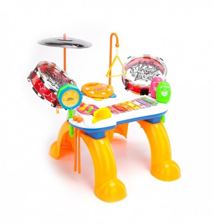 Bradex Развивающий музыкальный центр МелодияDE 0079С музыкальной станцией «МЕЛОДИЯ» отличное настроение ребенку обеспечено. Установка включает в себя ксилофон, треугольник, бубен, дудку, маракасы и даже барабаны. Импровизируйте всей семьей.