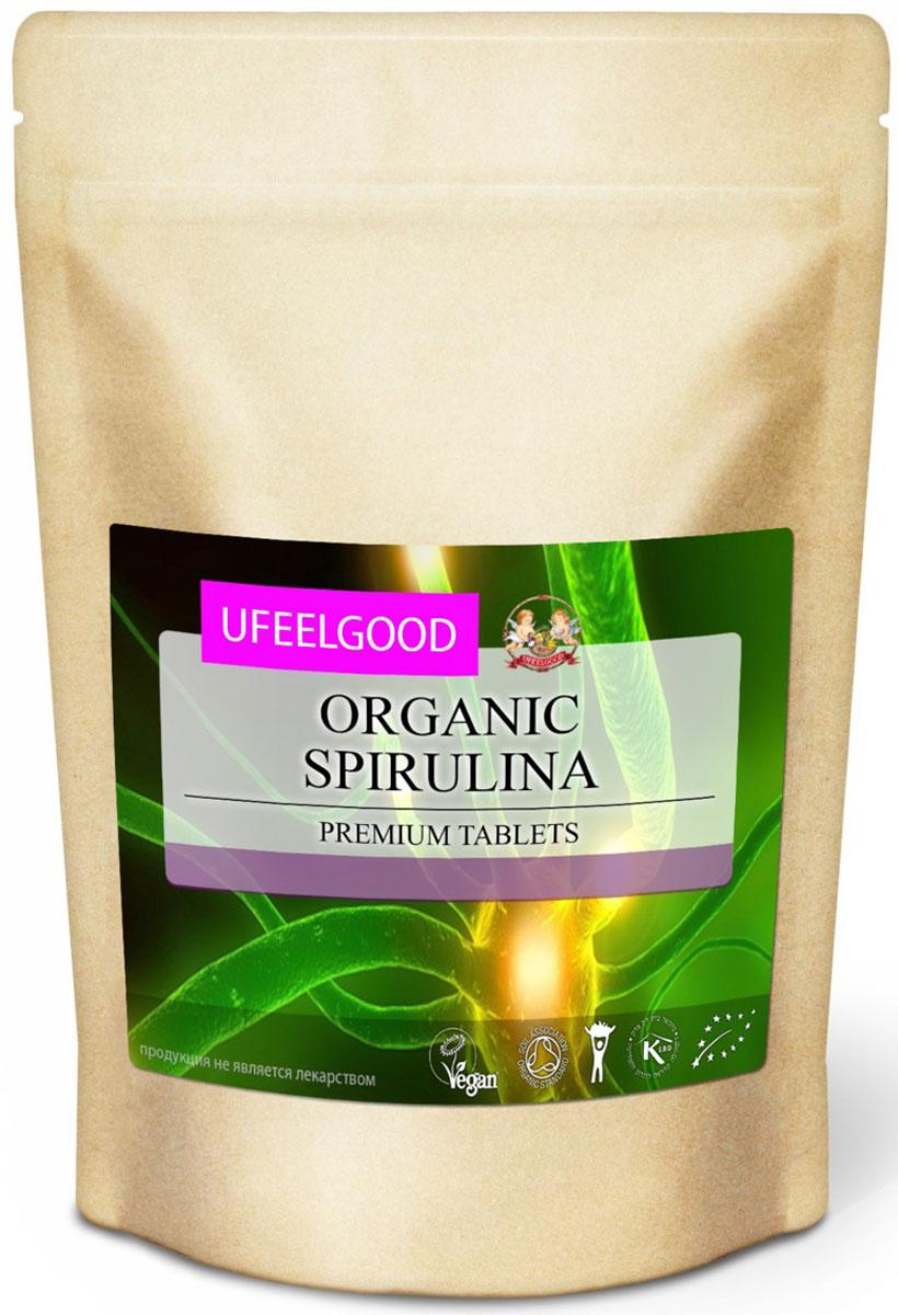 UFEELGOOD Organic Spirulina Premium Tablets органическая спирулина в таблетках, 200 г
