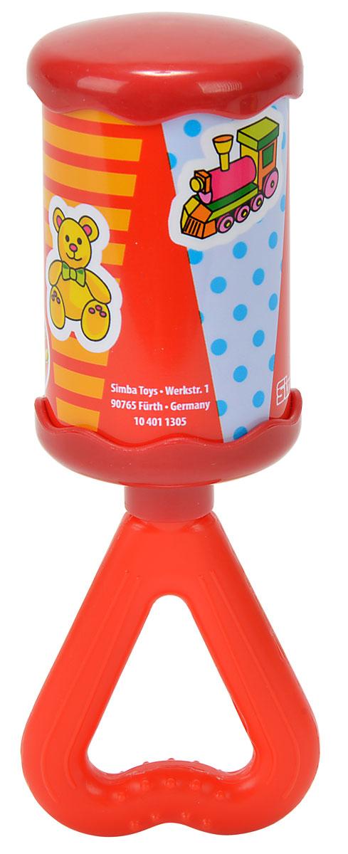 Simba Погремушка цвет красный4011305_красныйЯркая и красочная погремушка Simba обязательно привлечет внимание малыша и поможет ему начать познавать мир, развивая необходимые в будущем навыки и способности. Погремушка выполнена в виде цилиндра на длинной ручке треугольной формы, за которую малышу будет удобно держаться. Ручка погремушки дополнена рельефными точками, которые будут массировать десны, если малыш захочет погрызть игрушку. При встряхивании погремушка издает мелодичный звон. Забавная погремушка поможет малышу научиться фокусировать внимание, держать предметы, различать звуки, а также познакомит с формами и цветами. С первых месяцев жизни малыш начинает интересоваться яркими, подвижными предметами, ведь они являются его главными помощниками в изучении удивительного мира. Погремушка развивает мелкую моторику и слуховое восприятие.