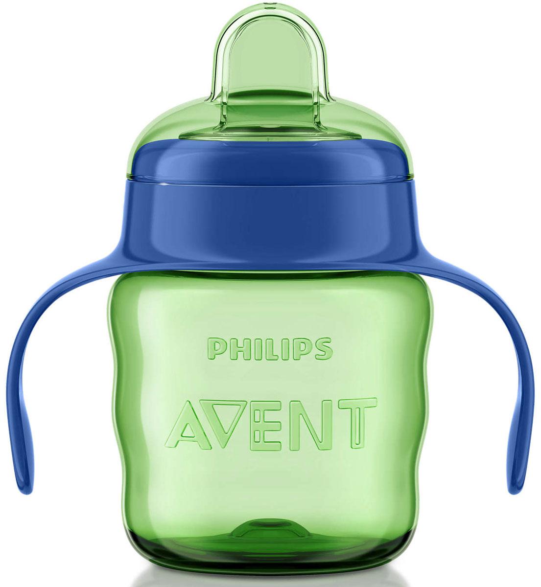 Philips Avent Чашка-поильник Comfort от 6 месяцев цвет салатовый синий 200 мл SCF551/00SCF551/00Чашка-поильник Philips Avent Comfort станет отличным помощником для малышей и их мам. Мягкий силиконовый носик облегчает питье, а немногочисленные детали значительно упрощают процесс очистки. Из цельного силиконового носика очень удобно пить: жидкость подается при надавливании на носик. Клапан встроен в носик, что ускоряет и облегчает сборку. Встроенный клапан предотвращает протекание. Удобный захват: форма контейнера чашки разработана специально для маленьких ручек. Изделие оснащено двумя ручками, чтобы малышу было удобно самому держать в руках. Чашка-поильник изготовлена из материала, не содержащего бисфенол-А. Все детали можно мыть в посудомоечной машине.