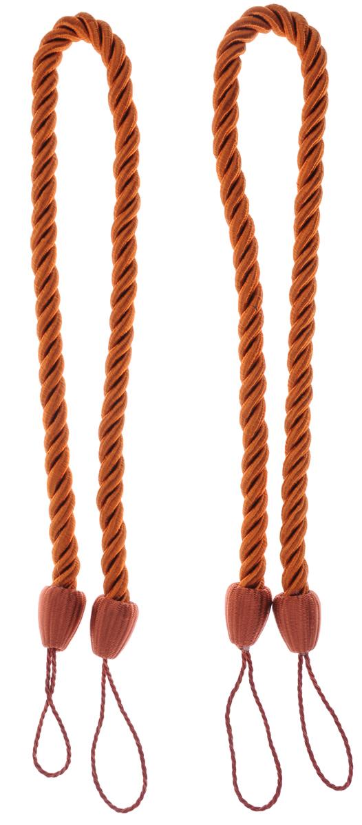 Подхват для штор Goodliving Шнур, цвет: терракотовый (45), 2 шт7711742_45 терракотовыйПодхват для штор Goodliving Шнур выполнен в виде витого шнура, на обоих концах которого имеются петли для крепления на крючок. Подхват - это основной вид фурнитуры в декоре штор, сочетающий в себе не только декоративную функцию, но и практическую - регулировать поток света. Подхваты способны украсить любую комнату. Длина подхвата: 52 см. Диаметр подхвата: 1,5 см.