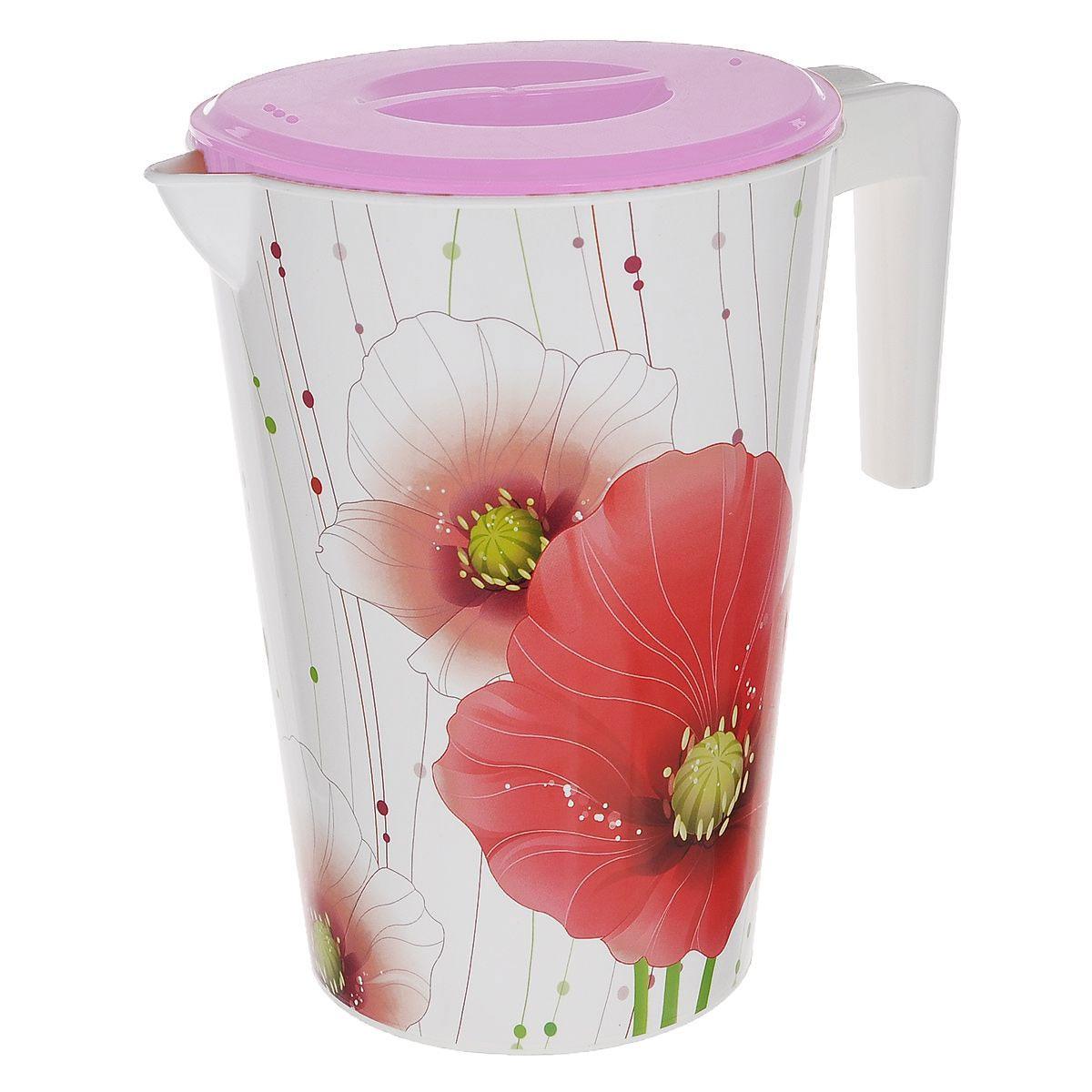 Кувшин Альтернатива Изюминка, с крышкой, белый, розовый, 2 лМ1945_белый, розовыйКувшин Альтернатива Изюминка, выполненный из пластика и декорированный цветочным рисунком, элегантно украсит ваш стол. Кувшин оснащен удобной ручкой и плотно закрывающейся пластиковой крышкой. Изделие имеет носик для выливания жидкости. Подойдет для подачи воды, сока, компота и других напитков. Кувшин Альтернатива Изюминка дополнит интерьер вашей кухни и станет замечательным подарком к любому празднику. Диаметр (по верхнему краю): 14 см. Диаметр основания: 10,5 см. Высота кувшина (без учета крышки): 20 см.