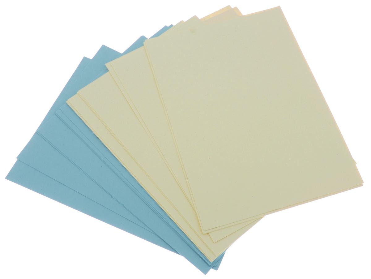 Набор картона 20л А4 (10л синий+10л желтый)07026Папка для рисования относится к серии эмоциональных канцелярских товаров торговой марки Kroyter. Выполнена в стильном современном дизайне. Формат А4, 20 листов (2 вида по 10 листов). Обложка — высококачественный картон повышенной плотности 300 г/кв.м. Внутренний блок изготовлен из бумаги, полностью целлюлозной, плотностью 300 г/кв.м. Тон бумаги — синий контрастный для работ пастелью (10 листов) и слоновая кость для работ с использованием водорастворимых красок (10 листов).