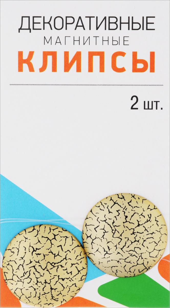 Клипсы магнитные для штор SmolTtx Мелкие трещины, с леской, цвет: золотистый, черный, длина 33,5 см, 2 шт544091_4ДМагнитные клипсы SmolTtx Мелкие трещины предназначены для придания формы шторам. Изделие представляет собой соединенные леской два элемента, на внутренней поверхности которых расположены магниты. С помощью такой клипсы можно зафиксировать портьеры, придать им требуемое положение, сделать складки симметричными или приблизить портьеры. Следует отметить, что такие аксессуары для штор выполняют не только практическую функцию, но также являются одной из основных деталей декора, которая придает шторам восхитительный, стильный внешний вид. Длина клипсы (с учетом лески): 33,5 см. Диаметр клипсы: 3,5 см.