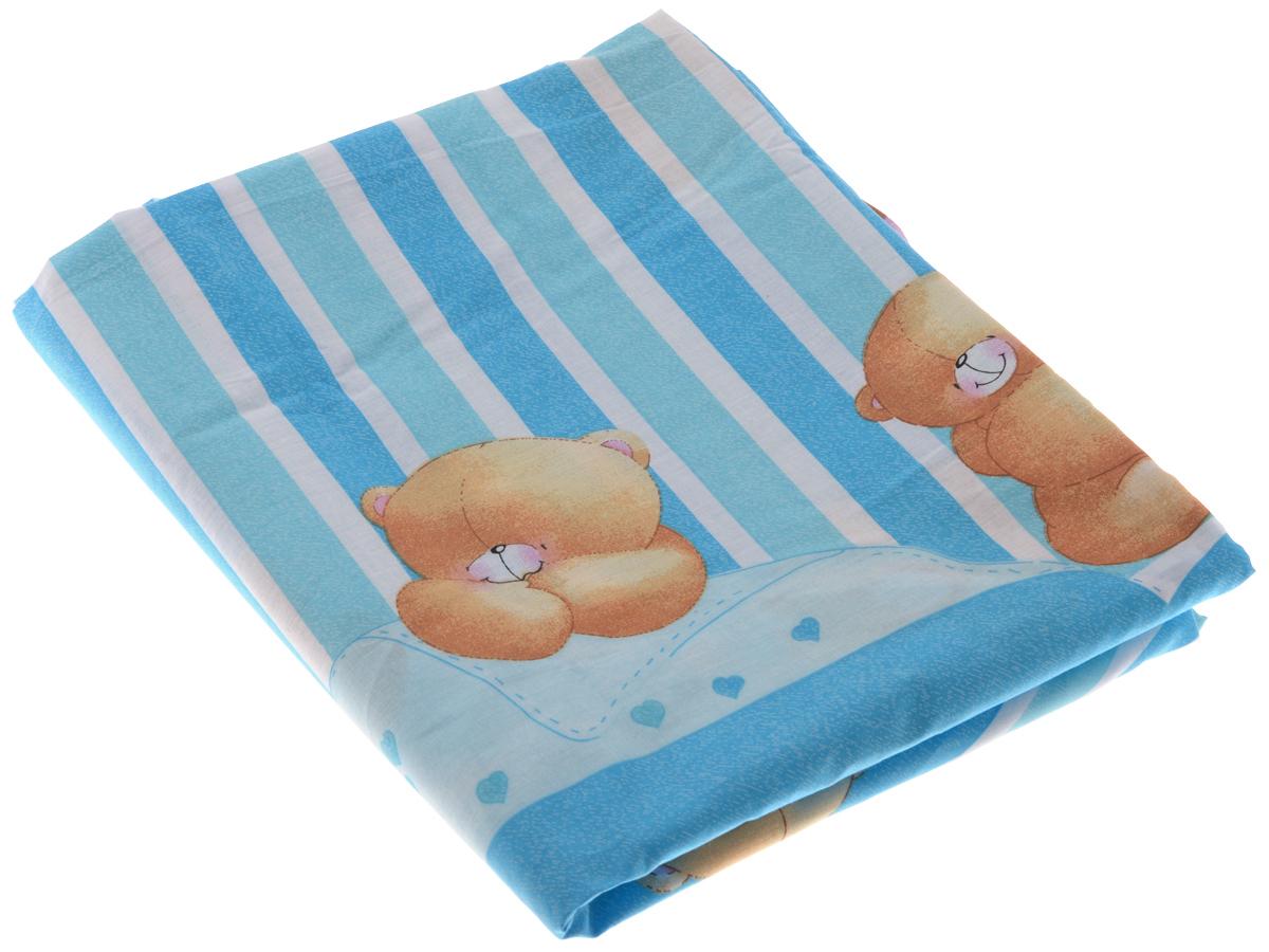 Фея Пододеяльник детский Мишки на полосках 110 см х 140 см