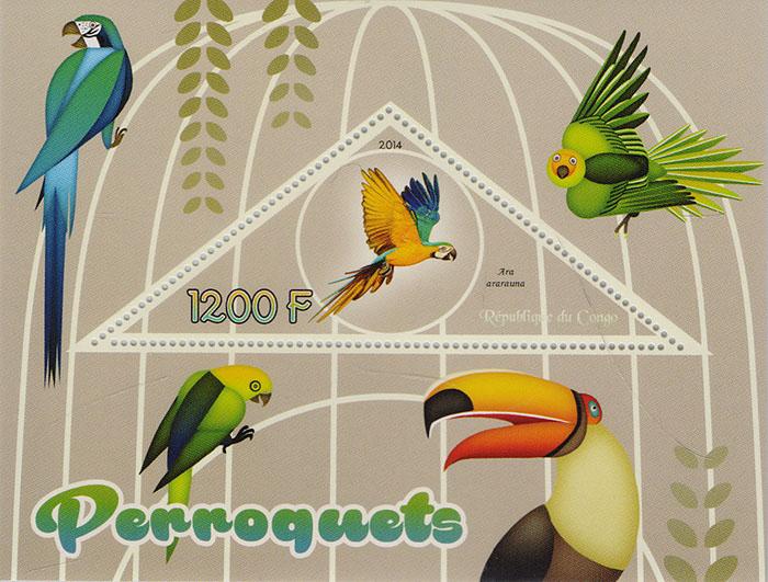 Почтовый блок Попугаи. Конго, 2014 год739Почтовый блок Попугаи. Конго, 2014 год. Размер марки: 9 х 3.5 см. Размер блока: 12 х 9 см. Сохранность хорошая.